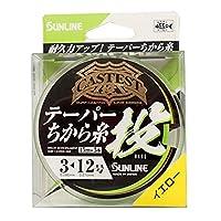 サンライン(SUNLINE) ナイロンライン CASTEST テーパー力糸投 75m #3-12 イエロー