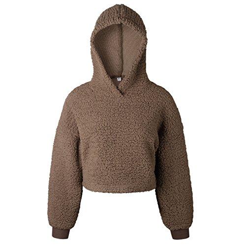Kabxryaclo Suéter para mujer, liso, cruzado, sin espalda, farol de murciélago, con cinturón, blusa suelta, para mujer