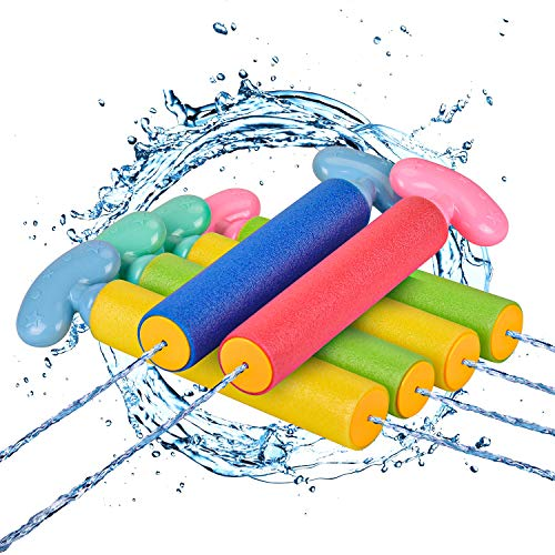 balnore Water Gun, Squirt Gun 6 Pcs Water Blaster with Long Range up to 32ft Summer Pool Toys for...