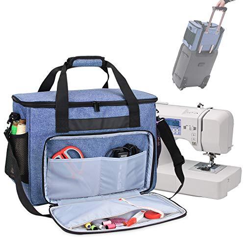 Teamoy Bolsa para Máquina de Coser, Maletas de Transporte máquinas de Coser, Azul