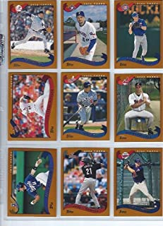 2002 Topps Traded Baseball Complete Set 275 Cards with Short Prints