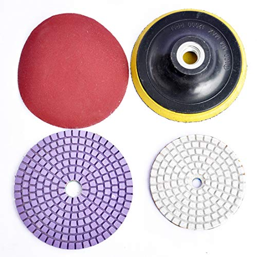 LINMAN Disco de Pulido de 125 mm con Adhesivo Adhesivo pegajoso Disco de arenilla de Disco de Arquitectura de ángulo de Chuck Accesorios Accesorios de Amoladora de Tipo Autoadhesivo
