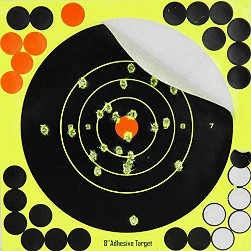 GUGULUZA Shooting Splatter Zielscheiben Selbstklebende Reactive Sticker für Pistole Airsoft Shooting, 20 x 20 cm, 10 Stück