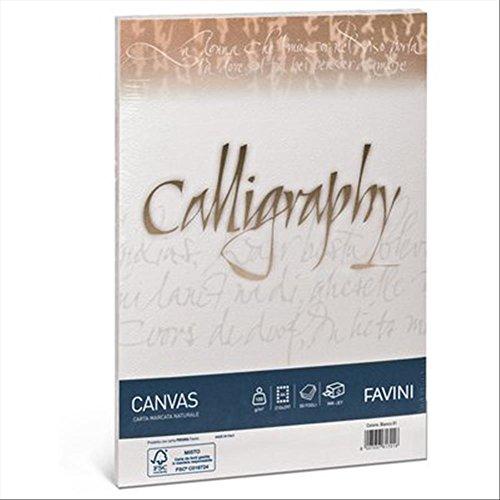 Carta telata A4 Calligraphy Favini - 100 g/mq - bianco (conf. 50 fogli)