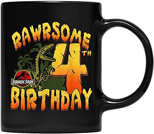 DKISEE Jurassic Park Rawrsome - Taza de café para padre y madre, abuelo, abuela y amiga, regalo de 11 onzas
