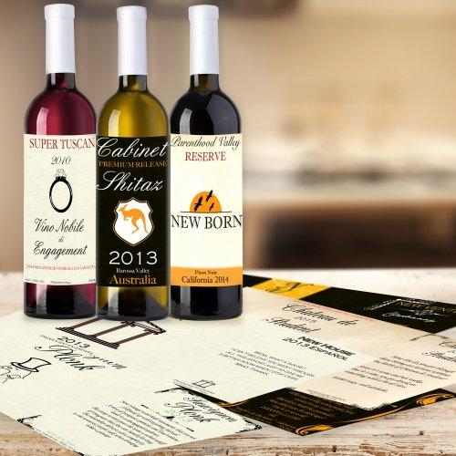 Thumbs Up! - Étiquettes adhésives pour Les Bouteilles de vin - Set de 10 - utilisé pour diverses manifestations - 1001559