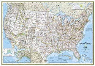National Geographic: United States Classic Enlarged Wall Map (69.25 x 48 inches) (National Geographic Reference Map)