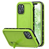 iPhone 12 Pro Max Waterproof Case with Kickstand, Full Body Protective Case with Built-in Screen Protector, IP68 Waterpoof Case for iPhone 12 Pro Max 6.7',2020 (Green)