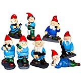 Combat Gnomes Garden Decoration Battle Angry War with Army Gun Statues Figurines Lawn Outdoor Decoration (8 PCS)