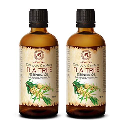 Teebaumöl 200ml - 2x100ml - Melaleuca Alternifolia - Australien - 100% Reine Ätherisches Öl Teebaum - Teebaum Öl für Beauty - Entspannung - Massage - Diffuser - Duftlampe - Raumduft