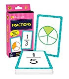 Carson Dellosa Fractions Flash Cards―Grades 3-5, Fraction Facts and Practice From Whole Numbers to Ninths, Double-Sided Cards, Math Skills for Ages 8+ (54 pc)
