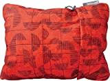 Therm-a-Rest Compressible Travel Pillow for Camping, Backpacking, Airplanes and Road Trips, Cranberry Print