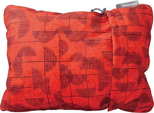 Therm-a-Rest Compressible Pillow - bauschiges Reisekopfkissen, Größe:M, Farbe:Cranberry Print