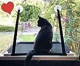 Asiento de ventana para el gato satisfecho Tumbona para gatos Hamaca de gatos Instalación de ventana Mirada del ratón Litera de ventana ventosas fuertes Ventana montada hamaca cama colgante