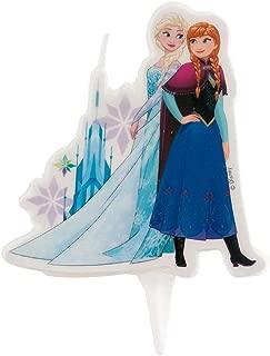 DEKORA Frozen Elsa and Anna Candle Cake Topper
