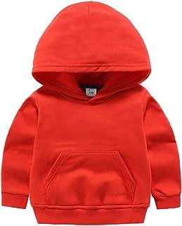 Lanbaosi Sweatshirt à Capuche Bébé Garçon Printemps Manche Longue Haut Confortable Couleur Unie Fille Pullover