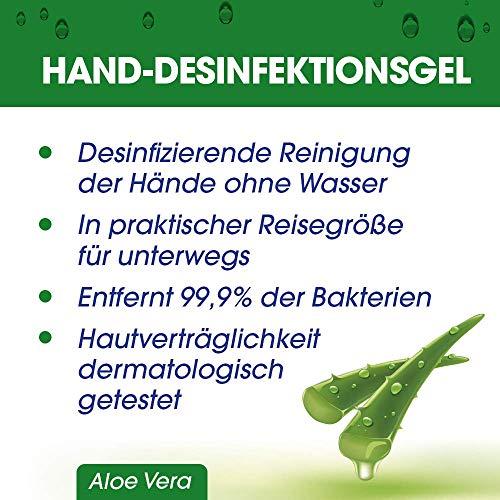 Sagrotan Hand-Desinfektionsgel mit Aloe Vera – Desinfektionsmittel für die Hände in praktischer Reisegröße – 1 x 50 ml