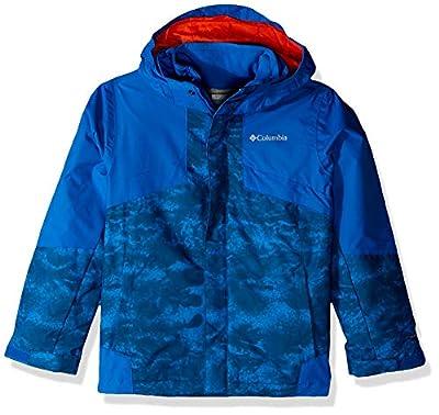 Columbia Boys Bugaboo Ii Fleece Interchange Jacket, Super Blue Cloudy, Super Blue, Large