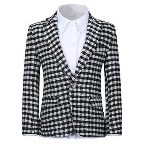 Black and White Plaid Sports Coat
