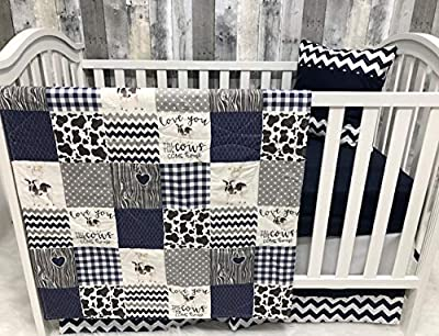 Baby Boy Nursery Bedding, Baby, Farm LIfe, Cow, Chickens, Cowboy, Farmer, Tractor, Baby Bedding, Crib Bedding, Babylooms