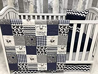 Babylooms Baby Boy Nursery Bedding, Baby, Farm Life, Cow, Chickens, Cowboy, Farmer, Tractor, Baby Bedding, Crib Bedding