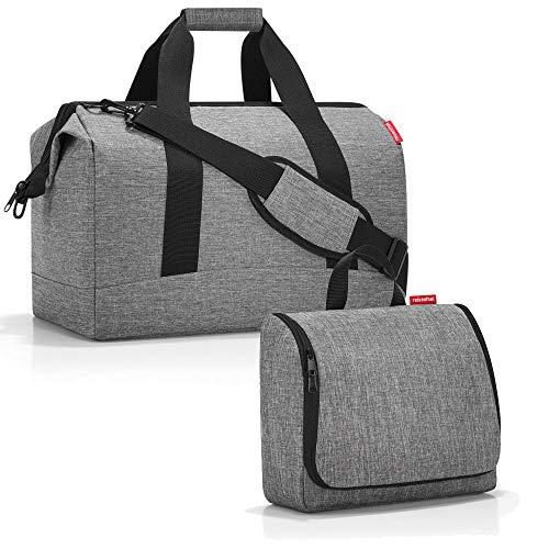reisenthel Allrounder L mit toiletbag XL und wahlweise mit extra Zugabe Reisetasche Waschtasche (Twisted Silver)
