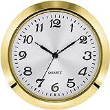 7 1 2 clock insert - Hicarer 1.8 Inch (45 mm) Round Quartz Clock Insert with Arabic Numerals Fit 1.6 Inch (40 mm) Diameter Hole (Gold Bezel)