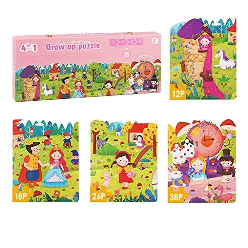 Puzzles Spielzeug Frühkindliche Bildung Frühe Intelligenz Gehirn 24 Kinder 3 Jungen EIN bis Zwei Jahre alt Spielzeug Tiere Ozean Brainteaser (Color : Fairy Tale)