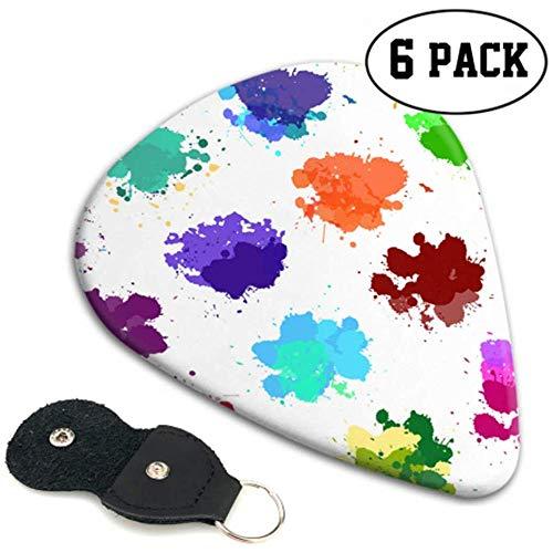 Set Salpicaduras de acuarela de colores Elecciones de guitarra simples Selección de...