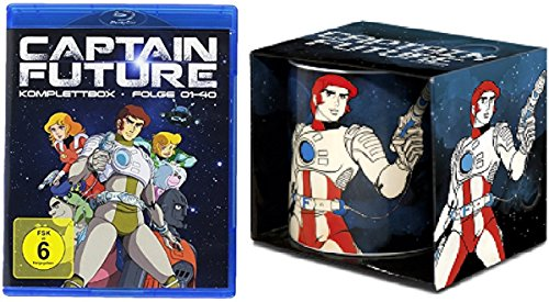 Captain Future Blu-ray - Komplettbox Alle Folgen 1-40 Gesamtedition + Tasse - Kaffeebecher
