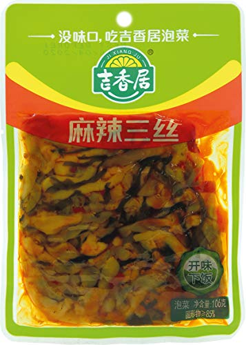 JI XIANG JU Chinesische Gemüse-Pickles, mit Seealgen, scharf, 106 g