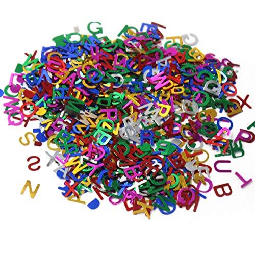 SUPVOX 90g / Pack Mezclado Lindo Alfabeto Decorativo Pegatinas Lentejuelas Carta Paillette artesanías Hechas a Mano DIY Scrapbooking Accesorios - 8 mm