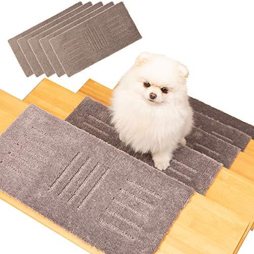 オカ(OKA) ペット用ラグマット ピタペトモ 階段マット 約22cm×45cm 5枚セット ブラウン(滑り止めマット 棚 カーペット ペット)