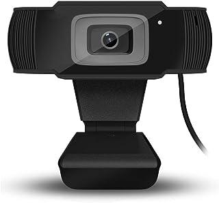 PovKeever - Cámara web HD cámara USB Digital Full HD 1080P 5 megapíxeles enfoque automático para PC y portátil