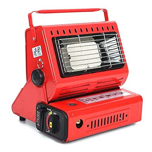 Portátil Propano Radiante Estufa De Terraza,Calentador De Tienda Estufa para Acampar,Calefactor De Pie Infrarrojo para Calefacción,Cocinar Durante El Camping-Rojo