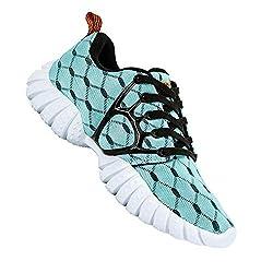 powerful ALEADER Ladies Lightweight Mesh Sports Sneakers Light Blue 9 D (M) US