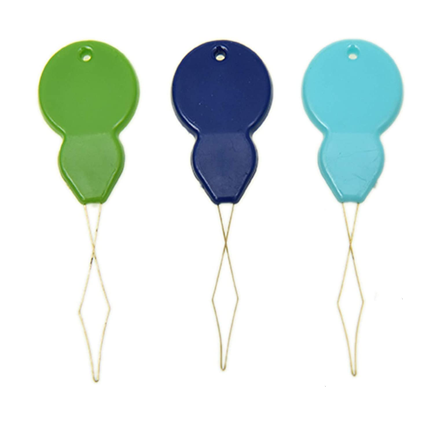 Pomeat 100PCS Assorted Colors Gourd Shaped Plastic Needle Threaders, Hand Machine Sewing Tool for Cross Stitch Embroidery