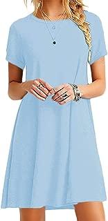 Best light blue tee shirt dress Reviews