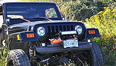 Cascadia 4x4 Flipster Lite - Fairlead Light Mount + Winch License Plate Mounting System - Hawse/Roller Fairlead Compatible - Made in USA/Canada