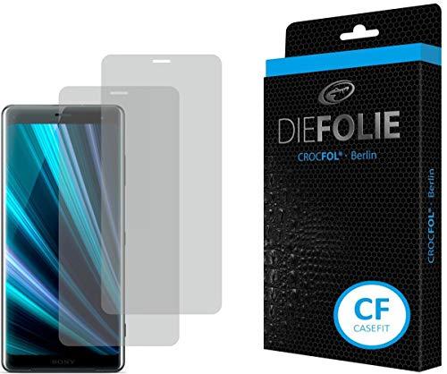 Crocfol Schutzfolie vom Testsieger [2 St.] kompatibel mit Sony Xperia XZ3 - selbstheilende Premium 5D Langzeit-Panzerfolie - für vorne, hüllenfre&lich