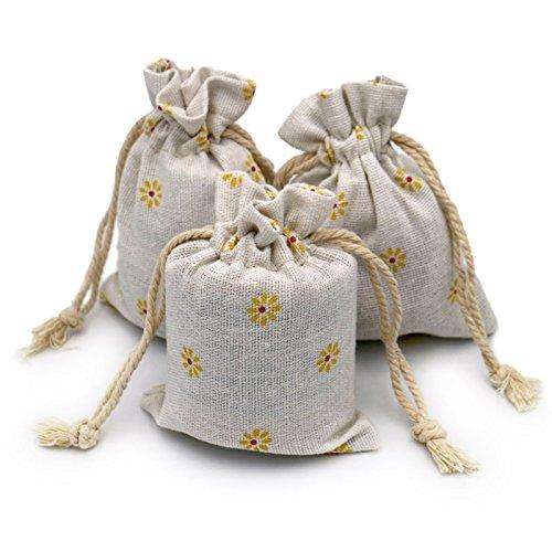 Nuolux Lot de 10 Petits Sacs en mousseline de coton bijoux parfaits pour drag/ées de mariage avec cordon 10 x 14,5/cm
