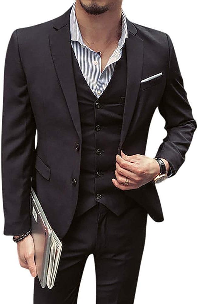 Classic Mens Black Burgundy 3 Pieces Tailored Wedding Slim Fit Tuxedo Gents Grooms Elegant Suit