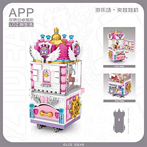 LOZ Prize Claw Doll Machine Play Ground Series NO.1721 Mini Building Micro Blocks Compatible Nano Brick Headz Chistmas/Bithday Gifts for Kids DIY Figures Assemble Educational Toys Model Kits