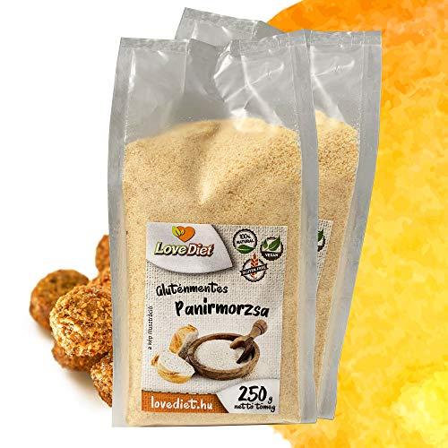 LoveDiet Paniermehl 2x250g | Glutenfrei Semmelbrösel | Vegan | Paleo | Gluten Free | 100% Natürlich | Glutenfreie Alternative Paniermehl