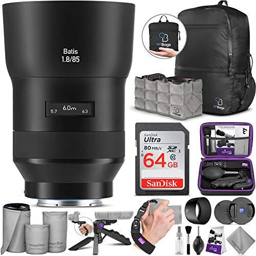ZEISS Batis Objektiv für Sony E Mount 85 mm f/1.8 mit Advanced Photo und Travel Bundle