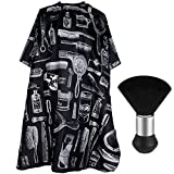 Professional Hair Cutting Cape with Neck Duster Brush, Salon Barber Cape, Hair Cutting Accessories (Floral Print)