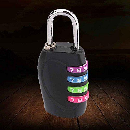 Bobury Nueva de 4 dígitos Cuerpo de Aluminio combinación del candado de contraseña para la Maleta del Recorrido