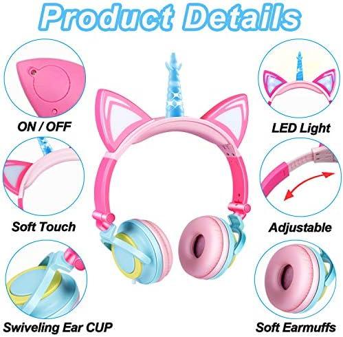 Glowing Unicorn, Kids Headphones, for, Girls Boys