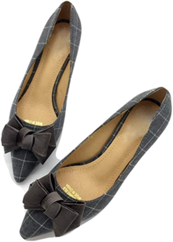 Kyle Walsh Pa Women Pumps shoes Mid-Heel Stiletto Bowknot Ladies Plaid Spring Autumn Footwear