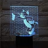 Tom e Jerry Night Light Led 3D Illusion Room Lampada decorativa Bambino Bambini Baby Nightlight Dropshipping Lampada da tavolo Camera da letto